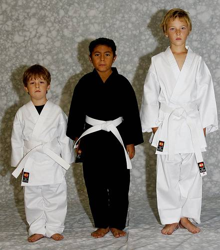 KI - Light Weight 6.75 oz. Poly-Cotton Karate Uniform (black Karate gi)