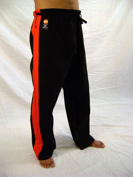 13.8 oz. Black Heavy Weight Pants with Red Stripe (Size 3, 4, 5, 6 ...