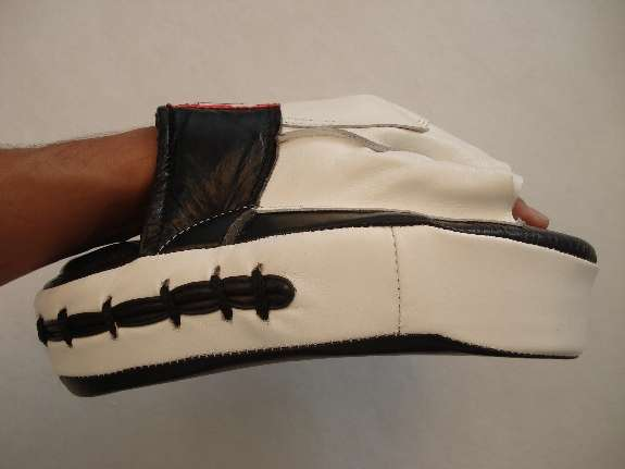 Focus mitt -side view with hand