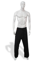 KI - Light Weight 8 oz. Poly-Cotton Karate Pants (black)