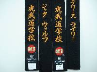 red shotokan black