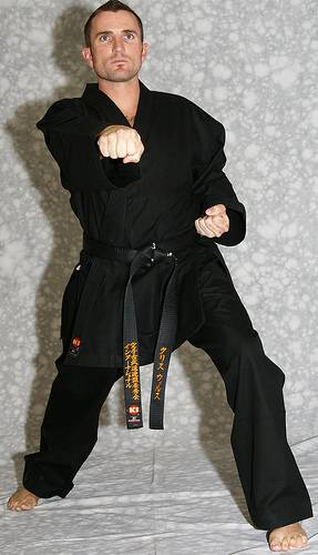KI Heavy Weight (black karate uniform, Karate gi)