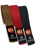 "KI Deluxe Color Belts 1 1/2"" Width (Red, Brown, or Black)"