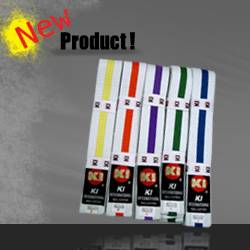Student White belts with color stripe for Judo and Karate